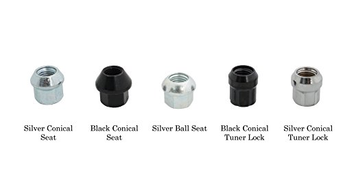 Motorsport Hardware (AUDI/VW/MERCEDES) 20-Piece Wheel Stud Adapter/Conversion 78mm Length (14x1.5 to 12x1.5) with Open Silver Conical Tuner Lock Nuts by Motorsport Hardware (Image #1)