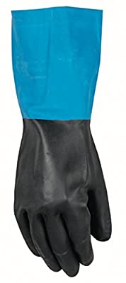 Wells Lamont Work Gloves with Gauntlet Cuff, Neoprene Overdip Coated, Large (191L)