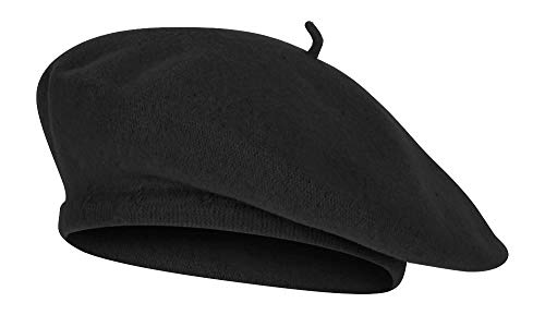 TOP HEADWEAR Wool Blend French Bohemian Beret, Black