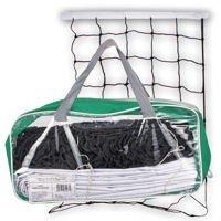 Spokey Volleyballnetz mit 12 m Stahlspannseil 4mm, Abm. 9,5 x 1 m, Volleyball - Beachvolleyball - Badminton