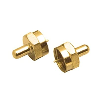 Gold Plated F-Connector Terminator Caps 2 Pack Connector Coax Cable 75 Ohm F Component