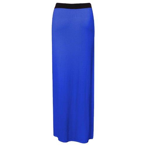 Lang Sommer Kleid Maxi Damen Jersey Königsblau Gr Bodycon Gypsy 36-54 Rock