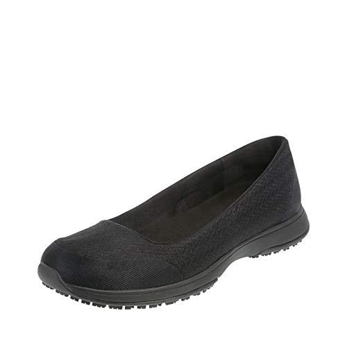safeTstep Women's Slip-Resistant Gem Athletic Flat