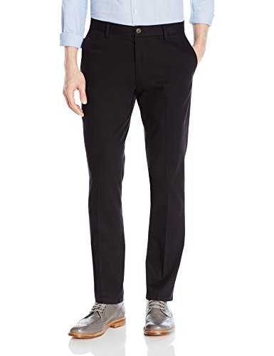 Goodthreads Men's Slim-Fit Wrinkle-Free Dress Chino Pant, Black, 32W X 34L