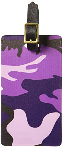 Camouflage Luggage Tag - Graphics & More Purple Camouflage Army Soldier Luggage Tags Suitcase Carry-on Id, White