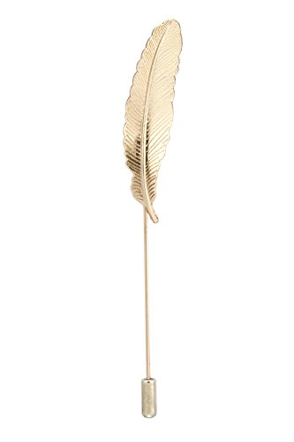 Knighthood Men's Formal Gold Feather Office Lapel Pin Brooch Badges Golden ()
