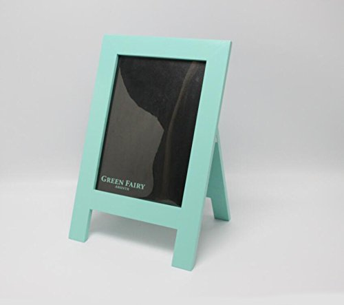 FixtureDisplays 8.3 x 11.7'' Beautiful Green Coutertop Sign A Frame Wood Chalkboard Picture Frame 21118! by FixtureDisplays