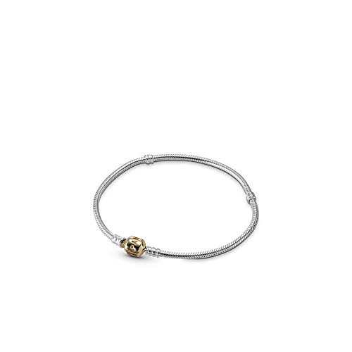 Gold Charms For Charm Bracelets - Pandora Silver Charm Bracelet With 14K Gold Clasp, 7.9