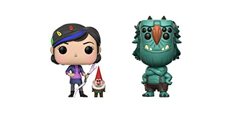 Funko POP! Television TrollHunters: Claire with Gnome and Blinky Blinkous Toy Action Figure - 2 POP BUNDLE
