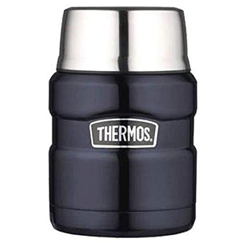 THERMOS Stainless King 16 Ounce Food Jar, Midnight Blue
