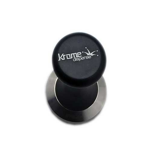 Krome Espresso Coffee Tamper - Premium Quality Stainless Steel, Solid Heavy, Barista Style, 57 mm - C2357 by Krome Dispense