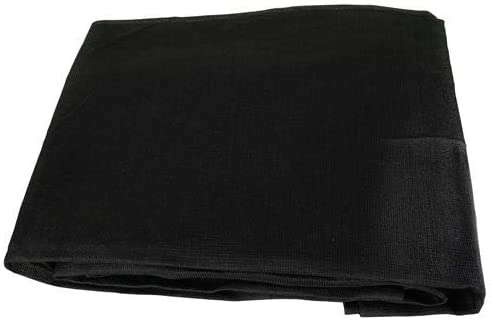 Black Mesh 9×12 Heavy Duty UV Screen Shade Canopy Patio Yard Tarp Sun Cover