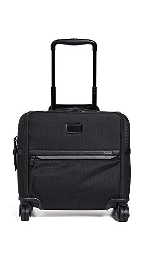 Tumi Men's Alpha Compact 4 Wheel Briefcase, Black, One Size