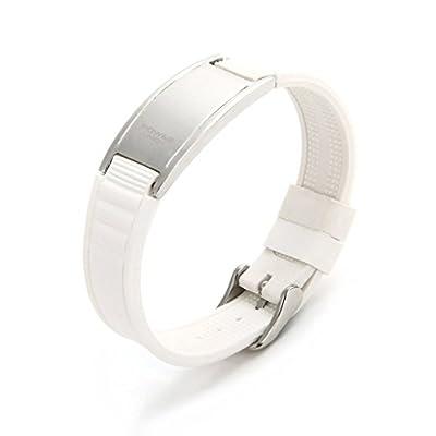 S.S (SportSpirit) Unisex Silicon Wrist Band Magnet Sports Bracelet
