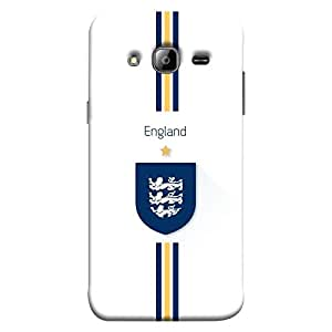 colorKing Samsung J3 2016 Football White Case shell cover - Fifa England 01