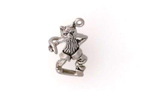 Sterling Silver 3-D Puss in Boots Charm - Jewelry Accessories Key Chain Bracelet Necklace -