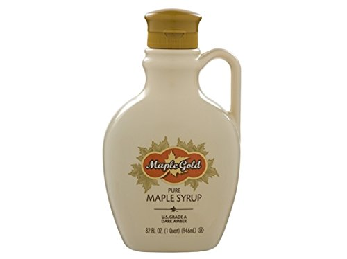 Maple Gold Pure Maple Syrup, 32 oz US Grade A Dark Amber