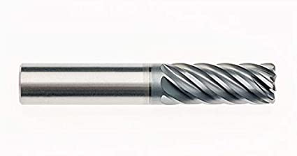 5.0000 OAL RedLine Tools 5 Flute 2.2500 LOC .0600 Radius AlCrN Coated Single End Corner Radius Carbide End Mill Weldon Shank Type REV5294 1.0000 1