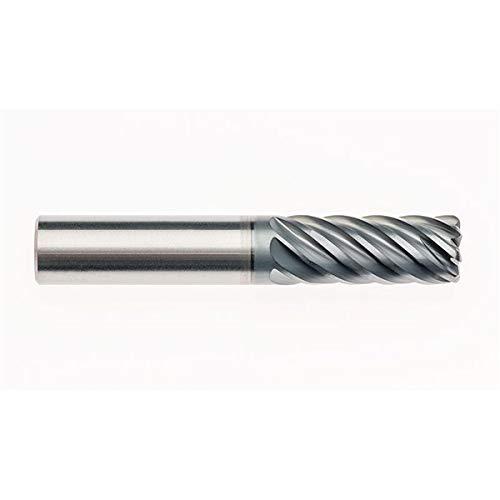 5//8 Round Shank Type RFZ07084 AlCrNX Coated RedLine Tools 7 Flute 1.8750 LOC .0600 Radius Single End Corner Radius Carbide End Mill .6250 4.0000 OAL