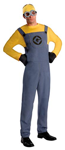 Adult Minion Halloween Costume (Rubie's Despicable Me 2 Adult Minion Dave, Blue/Yellow, Standard Medium)