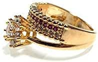 خاتم زفاف نسائي مزين بحجر الزركون