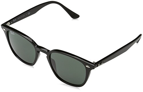 Ray-Ban Injected Unisex Square Sunglasses, Black, 50 - Aviator Ban Highstreet Ray