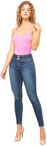 Pantalones Mujer Jeans Dama Colombiano Seven El Que sí Levanta 7138 Stone Obscuro
