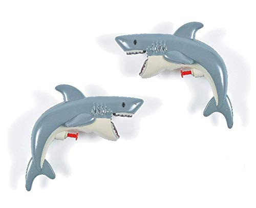 2 Pack Shark Water Squirt Gun 8 Inches - Great Party Favors for Kids Bag Stuffers, Fun, Gift, Prize, Outdoor, Summer, Toy - by Kidsco ()