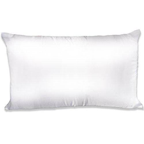Spasilk 100-Percent Silky Satin Hair Beauty Pillowcase, White, King Size