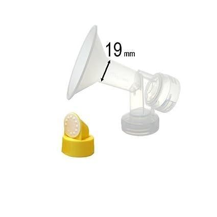 w/Valve Membrane for Medela Brea... 19 mm, Extra Small One-Piece Breastshield