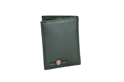 65215 Wallet Trifold ID Card Small Slim Genuine Case Men Dream Leather Window Swiss g7HxESq