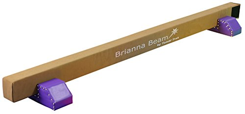 (Tumbl Trak Brianna Balance Beam, Suede with Purple Base)