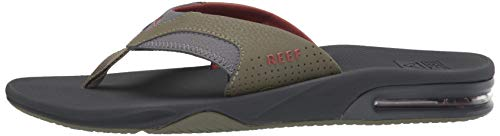 Reef Men's Fanning Sandal, Olive/Rust, 150 M US by Reef (Image #5)