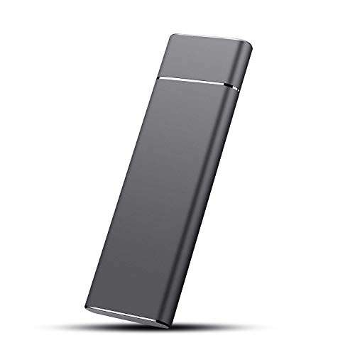 External Hard Drive, Hard Drive Portable Storage Drive Slim External Hard Drive Compatible with PC, Laptop and Mac (1TB, Black)