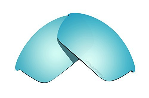 Sunglass Lenses Replacement Polarized for Oakley Flak Jacket Sunglasses - 4 Options Available (Blue Coatings) by BVANQ
