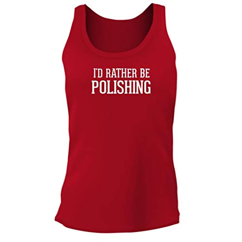 Tracy Gifts I'd Rather Be POLISHING - Women's Junior Cut Adult Tank Top, Red, Small