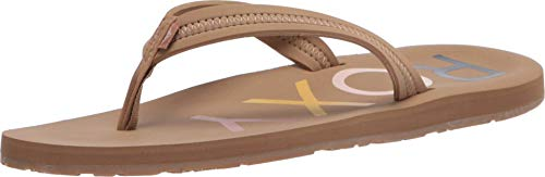 Roxy Women's Vista Sandal Flip-Flop, tan 20, 8 M US
