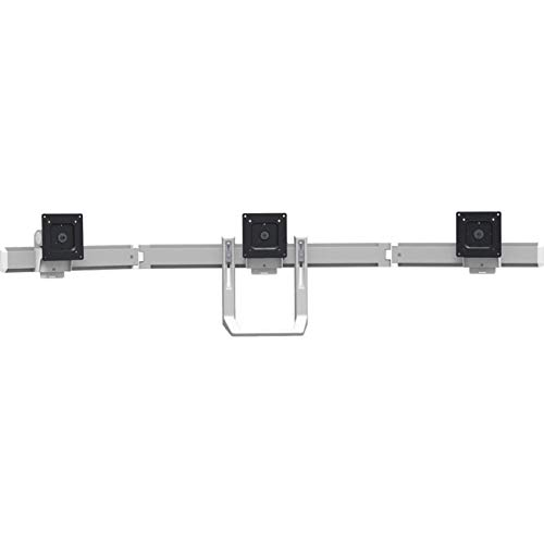 - Ergotron 98-009-026 HX Triple Monitor Bow Kit in Polished Aluminum for 2-10.2 lbs Monitors