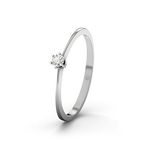 21DIAMONDS Mujer 9 k (375) oro blanco 9 quilates (375) Rund diamante