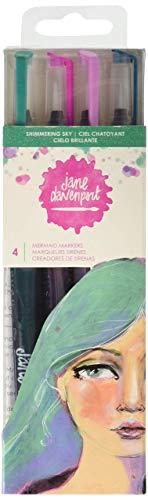 American Crafts Shimmering Sky Jane Davenport Mixed Media 2 Mermaid Markers 4/Pkg