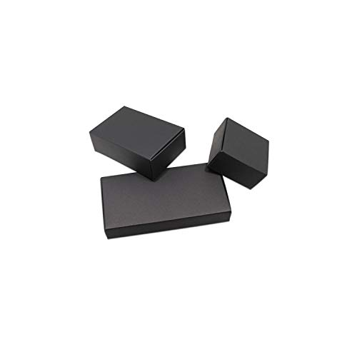 Decorative Boxes 50Pcs Black/White Cardboard Paper Gift Boxes for Wedding Birthday Favors Candy Crafts Wrapping Box Foldable Kraft Package Boxes,Black,5.5X5.5X2.5Cm