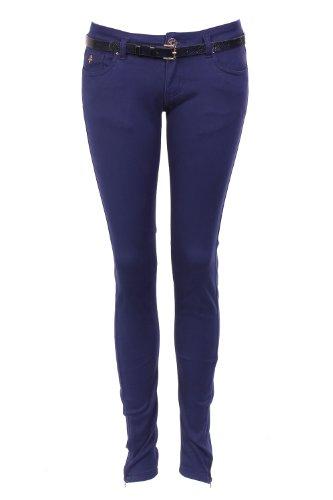 SUPER SOFT-Pantalón con cremallera en la parte inferior Azul