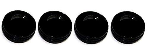 AMI 5409RK O-ring Black Style Billet Dash Knobs - Set of 4