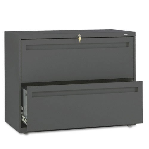 - HON 782LS 700 Series 36 by 19-1/4-Inch 2-Drawer Lateral File, Charcoal