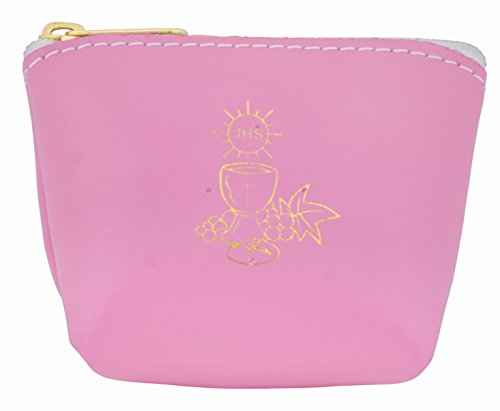 Colorful Rosary Pouch in Italian Leather (Pink) by Venerare