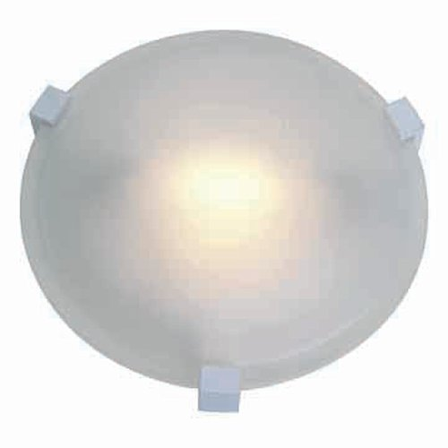 Access Lighting 50060-WH/FST Cirrus One Light Flush Mount, White Finish with Frosted Glass Shade