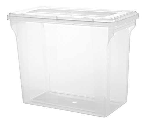 IRIS 12'' x 12'' Scrapbook File Box, Clear by IRIS USA, Inc.