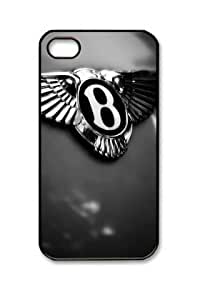 Bentley Car Logo 005 Iphone 4/4S Black Sides PC Hard Shell Case by eeMuse
