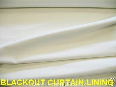 Block Sunlight 3 PASS BLACK OUT Curtain Lining Fabric IVORY/CREAM Prestige  Fashion UK Ltd