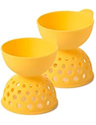 OXO Good Grips Silicone Egg Poachers (Set of 2),Yellow